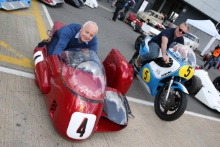Silverstone Classic Media Day 2016,Silverstone Circuit, Northants, England. 27th April, 2016Steve Webster and Wayne GardnerCopyright Free for editorial use