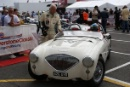 Silverstone Classic 2016, 29th-31st July, 2016,Silverstone Circuit, Northants, England. Dodd-Minshaw Austin-Healey 100MCopyright Free for editorial use only