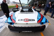 Silverstone Classic Media Day 2017,Silverstone Circuit, Northants, England. 23rd March 2017.Jaguar XJ220.Copyright Free for editorial use.