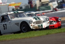 Silverstone Classic 28-30 July 2017 At the Home of British Motorsport KNIGHT Richard, WOOLMER Richard, Austin HealeyFree for editorial use only Photo credit – JEP
