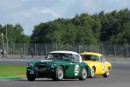 Silverstone Classic 28-30 July 2017At the Home of British MotorsportRAC Tourist Trophy for Pre 63 GT WORTHINGTON Tony, MIDGLEY Mark, Austin Healey 3000 MK3Free for editorial use onlyPhoto credit –  JEP