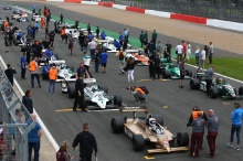 Silverstone Classic 28-30 July 2017At the Home of British MotorsportFIA Masters F1 GridFree for editorial use onlyPhoto credit –  JEP