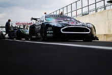 Silverstone Classic 20-22 July 2018At the Home of British MotorsportStrakka Aston Martin Free for editorial use onlyPhoto credit – JEP