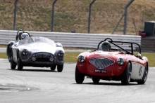 Silverstone Classic 20-22 July 2018At the Home of British Motorsport45 Paul Mortimer/Jonathan Mortimer, Austin-Healey 100MFree for editorial use onlyPhoto credit – JEP