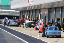 Silverstone Classic 20-22 July 2018At the Home of British MotorsportDrivers in the pitlane Free for editorial use onlyPhoto credit – JEP