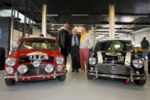 Silverstone Classic (27-29 July 2019) Preview Day,. 10th April 2019, At the Home of British Motorsport. Steve Neal, Paddy Hopkirk and John Rhodes. Free for editorial use only. Photo credit - JEP