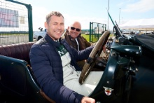 Silverstone Classic (27-29 July 2019) Preview Day,10th April 2019, At the Home of British Motorsport.Tom Kristensen Bentley Free for editorial use only. Photo credit - JEP