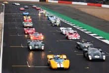 Silverstone Classic 2019Race StartAt the Home of British Motorsport. 26-28 July 2019Free for editorial use onlyPhoto credit – JEP