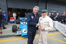 Silverstone Classic 2019Nick Wigley and Sir Jackie Stewart - 1969 Matra MS80-02At the Home of British Motorsport. 26-28 July 2019Free for editorial use only Photo credit – JEP
