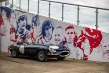 Silverstone Classic 2021 Damon Hill with the Jaguar E-TypeAt the Home of British Motorsport. 30th July – 1st August Free for editorial use only