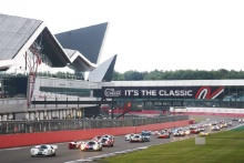 The Classic, Silverstone 2021 23 Gary Pearson / Alex Brundle - Lola T70 MK3B  - start of the race At the Home of British Motorsport. 30th July – 1st August Free for editorial use only