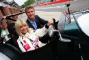 Jo Wood passes her ARDS test at Brands Hatch on 18th May 2011 with David Coulthard