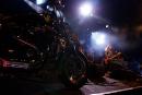 Suzi Quatro on stage at the Silverstone Classic