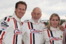 Brendan Cole and Sir Patrick Stewart Morgan Silverstone Classic Celebrity Race