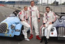 Nicola Stapleton, Tony Hirst and Kelvin Fletcher, Morgan Silverstone Classic Celebrity Race