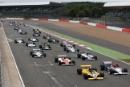 Start of the race, Michael Lyons RAM Williams FW07 leads
