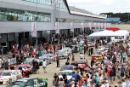 Fans look at the Super Touring cars