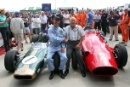 David Branham and Stirling Moss in the Parade of Grand Prix Cars