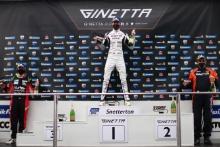 Race 2 Podium Callum Jenkins - Team Hard Ginetta G55 Adam Smalley - Elite Motorsport Ginetta G55 Colin White - CWS Motorsport Ginetta G55