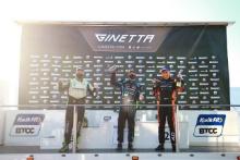 Race 3 Podium Stewart Lines - Maximum Motorsport Ginetta G55 Daniel Morris - Triple M Motorsport Ginetta G55 Nick Halstead - Fox Motorsport Ginetta G55