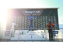 Race 3 Podium Chris Salkeld - Assetto Motorsport Ginetta G55 Tom Emson - Elite Motorsport Ginetta G55 Colin White - CWS Motorsport Ginetta G55