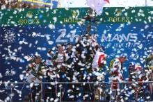 #7 Toyota Gazoo Racing Toyota TS050: Mike Conway, Kamui Kobayashi, Jose Maria Lopez and #8 Toyota Gazoo Racing Toyota TS050: Sebastien Buemi, Kazuki Nakajima, Fernando Alonso