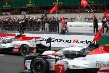 #8 Toyota Gazoo Racing Toyota TS050: Sebastien Buemi, Kazuki Nakajima, Fernando Alonso  and #7 Toyota Gazoo Racing Toyota TS050: Mike Conway, Kamui Kobayashi, Jose Maria Lopez
