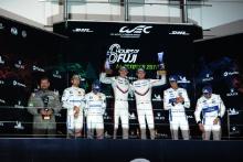 GTE Pro Podium, #92 Porsche GT Team Porsche 911 RSR: Michael Christensen, Kevin Estre wins