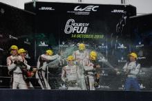 P2 Podium, #37 Jackie Chan DC Racing Oreca 07 Gibson: Jazeman Jaafar, Weiron Tan, Nabil Jeffri