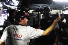 #8 Toyota Gazoo Racing Toyota TS050:  Fernando Alonso celebrates winning