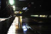 Rain in the Sebring pits