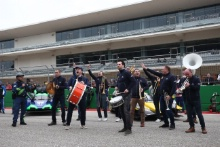 A band play music on the COTA grid