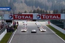 Cars on the grid for the Total 6 Hours of Spa