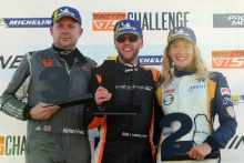 Race 1 Am Podium (l-r) Richard Evans Quattro Motorsport Ginetta GT5, Adrian Campbell-Smith W2R Motorsport Ginetta GT5, Charlie Martin Richardson Racing Ginetta GT5