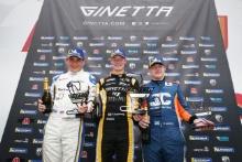 Podium Race 1 Pro Scott Mckenna / Xentek Motorsport Ginetta GT5 Adam Smalley / Elite Motorsport Ginetta GT5 Gordie Mutch / Fox Motorsport Ginetta GT5