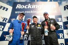 Race 1 Road Class Podium (l-r) Sean Thomas (GBR) Westbourne Motorsport Renault Clio Cup, Nic Harrison (GBR)R CGH Imports with Jade Developments Renault Clio Cup, Tom Oatley (GBR) Paxcroft.co.uk / Team Prota Renault Clio Cup