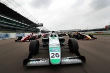 Jamie Sharp (GBR) Sharp Motorsport British F4, Kiern Jewiss (GBR) Double R British F4, Dennis Hauger (NOR) Arden British F4