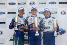 Dennis Hauger (NOR) Arden British F4, Jack Doohan (AUS) Arden British F4, Ayrton Simmons (GBR) JHR  British F4