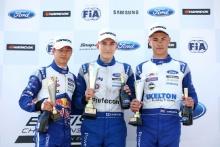 Dennis Hauger (NOR) Arden British F4, Paavo Tonteri (FIN) Double R British F4, Josh Skelton (GBR) JHR  British F4