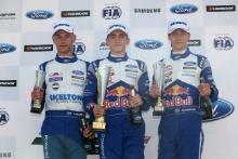 Josh Skelton (GBR) JHR  British F4, Jack Doohan (AUS) Arden British F4, Dennis Hauger (NOR) Arden British F4