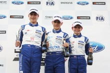 Alex Walker (GBR) JHR Developments British F4 Zane Maloney (BRB) Carlin British F4 Alex Connor (GBR) Arden Motorsport British F4