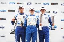 Josh Skelton (GBR) JHR Developments British F4 Luke Browning (GBR) Richardson Racing British F4 Tommy Foster (GBR) Arden Motorsport British F4 Podium