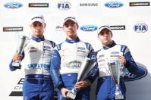 Josh Skelton (GBR) JHR Developments British F4 Louis Foster (GBR) Double R Racing British F4 Sebastian Alvarez (MEX) Double R Racing British F4