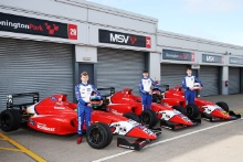 Alex Connor (GBR) - Arden British F4, Roman Bilinski (GBR) - Arden British F4, Frederick Lubin (GBR) - Arden British F4