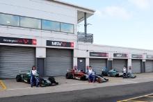Reema Juffali (SAU) - Argenti Motorsport British F4, Nico Pino (CHL) - Argenti British F4, Casper Stevenson (GBR) - Argenti British F4