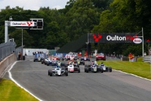Start of the race, Joseph Loake (GBR)  JHR F4 leads