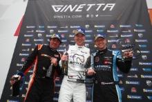Podium Race 1 Pro Rob Keogh / W2R Chris Salkeld / Assetto Motorsport Daniel Morris / Quattro Motorsport