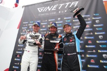 Podium Race 3 Chris Salkeld / Assetto Motorsport Rob Keogh / W2R Daniel Morris / Quattro Motorsport
