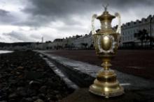 2018 Dayinsure Wales Rally GB reveal Llandudno - Winners trophy
