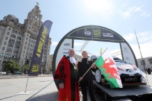 2019 Wales Rally GB Liverpool LaunchPeter Brennan - Mayor of Liverpool and Louise Emery - Conwy